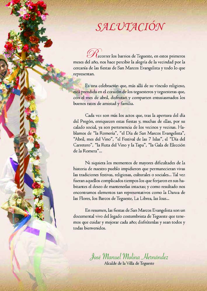 Fiestas en Honor a San Marcos Evangelista 2016  InfoTegueste